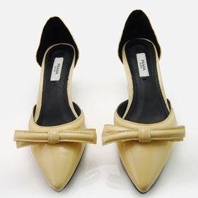 ブランド通販PRADA ハイヒール プラダ PRADA 革靴 パンプス イエロー 2061激安屋-ブランドコピー 韓国