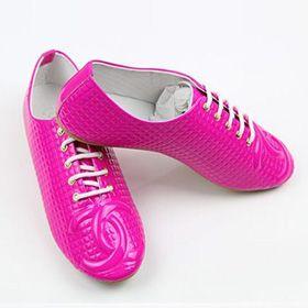 ブランド通販シャネル フラットシューズ CHANEL シャネル 2017 靴 新品 スニーカー シューズ ローズレッド 革靴 8027激安屋-ブランドコピー 代引き中国国内発送通販後払い