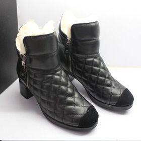 ブランド通販CHANEL 2017の大人気な新作 シャネル ブーツ シャネル CHANEL 中古 女性用ロングブーツ 靴 シューズ ブラック 20862 black激安屋-ブランドコピー ばれない お