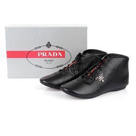 ブランド通販プラダ スニーカー PRADA プラダ 2017新品 フラットシューズ 革靴 ブラック 8022-black激安屋-ブランドコピー 代引きコピー商品ファッション通販
