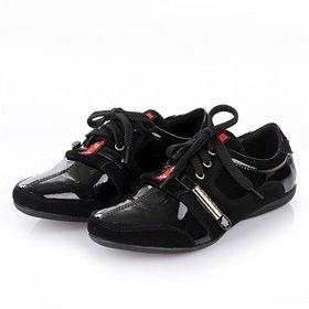 ブランド通販プラダ スニーカー PRADA プラダ 2017新品 フラットシューズ 革靴 ブラック 8023激安屋-ブランドコピー 安全通販後払い