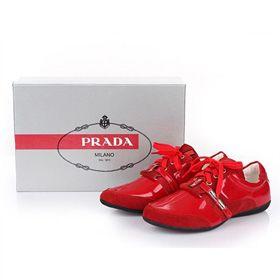 ブランド通販プラダ スニーカー PRADA プラダ 2017新品 フラットシューズ 革靴 レッド 8023激安屋-ブランドコピー 代引きコピー商品