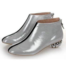 ブランド通販シャネル 靴 フラットシューズ CHANEL シャネル 新作 革靴 パンプス シルバー 2059激安屋-ブランドコピー 専門店代引き