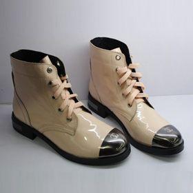 ブランド通販シャネル ブーツ フラットシューズ CHANEL シャネル 2017 靴 新品 スニーカー シューズ カーキ 革靴 8035激安屋-ブランドコピー ランキング