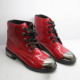 ブランド通販シャネル ブーツ フラットシューズ CHANEL シャネル 2017 靴 新品 スニーカー シューズ レッド 革靴 8035激安屋-ブランドコピー 商品専門店ばれない