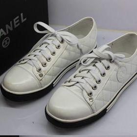 ブランド通販シャネル スニーカー フラットシューズ CHANEL シャネル 2017 靴 新品 スニーカー シューズ オフホワイト 革靴 8036激安屋-ブランドコピー 通販届くばれない