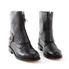 ブランド通販シャネル 中古 長靴 CHANEL ブーツ 靴 シューズ 23154 ブラック激安屋-ブランドコピー 代引き中国国内発送
