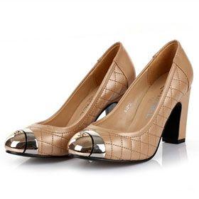ブランド通販シャネル 新作 ハイヒール 革靴 23224 パンプス CHANEL 新品 ベージュ激安屋-ブランドコピー 専門