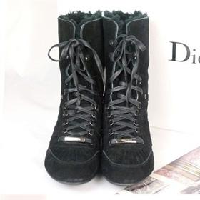 ブランド通販2017送料無料 ハイヒール スニーカー Christian Dior ハイヒール 革靴 女性フラットシューズ 23151 ブラック激安屋-ブランドコピー 代引き通販口コミ