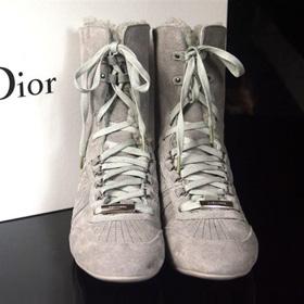 ブランド通販2017送料無料 ハイヒール スニーカー Christian Dior ハイヒール 革靴 女性フラットシューズ 23151 グレー激安屋-ブランドコピー おすすめ専門店安全