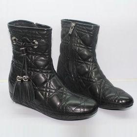 ブランド通販ディオール フラットシューズ dior ディオール 新作 ブーツ 03215 ブラック激安屋-ブランドコピー 代引きn