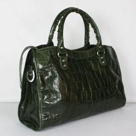 ブランド通販BALENCIAGA-バレンシアガ-084332_Dark green crocodile激安屋-ブランドコピー 通販信用できる