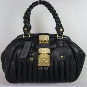 ブランド通販MIU MIU-ミュウミュウ-07105黒激安屋-ブランドコピー 安全サイトファッション通販